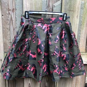BR Jacquard Print Miniskirt